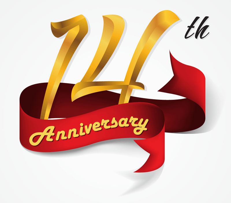 14th anniversary clip art.