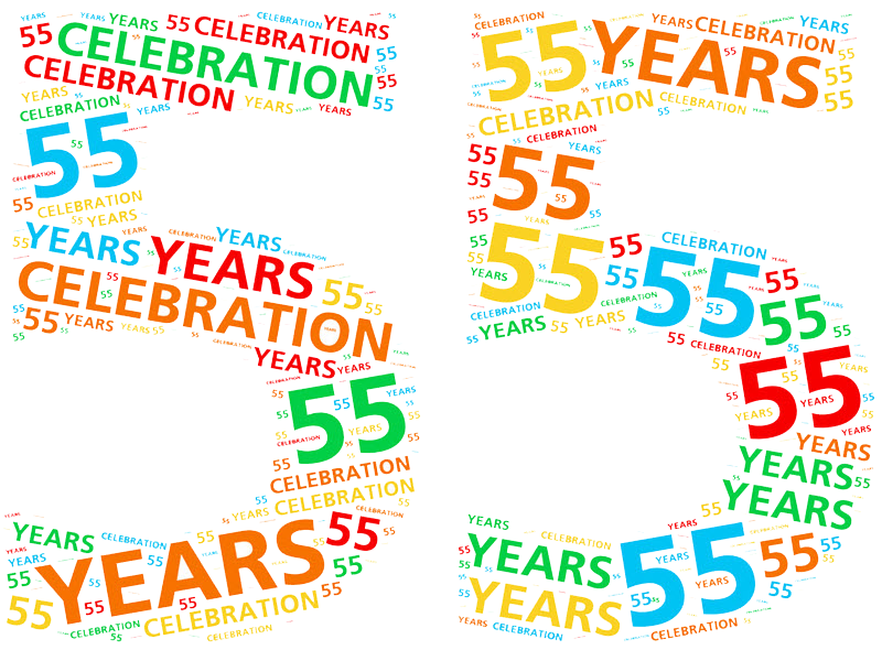 55th anniversary clipart.