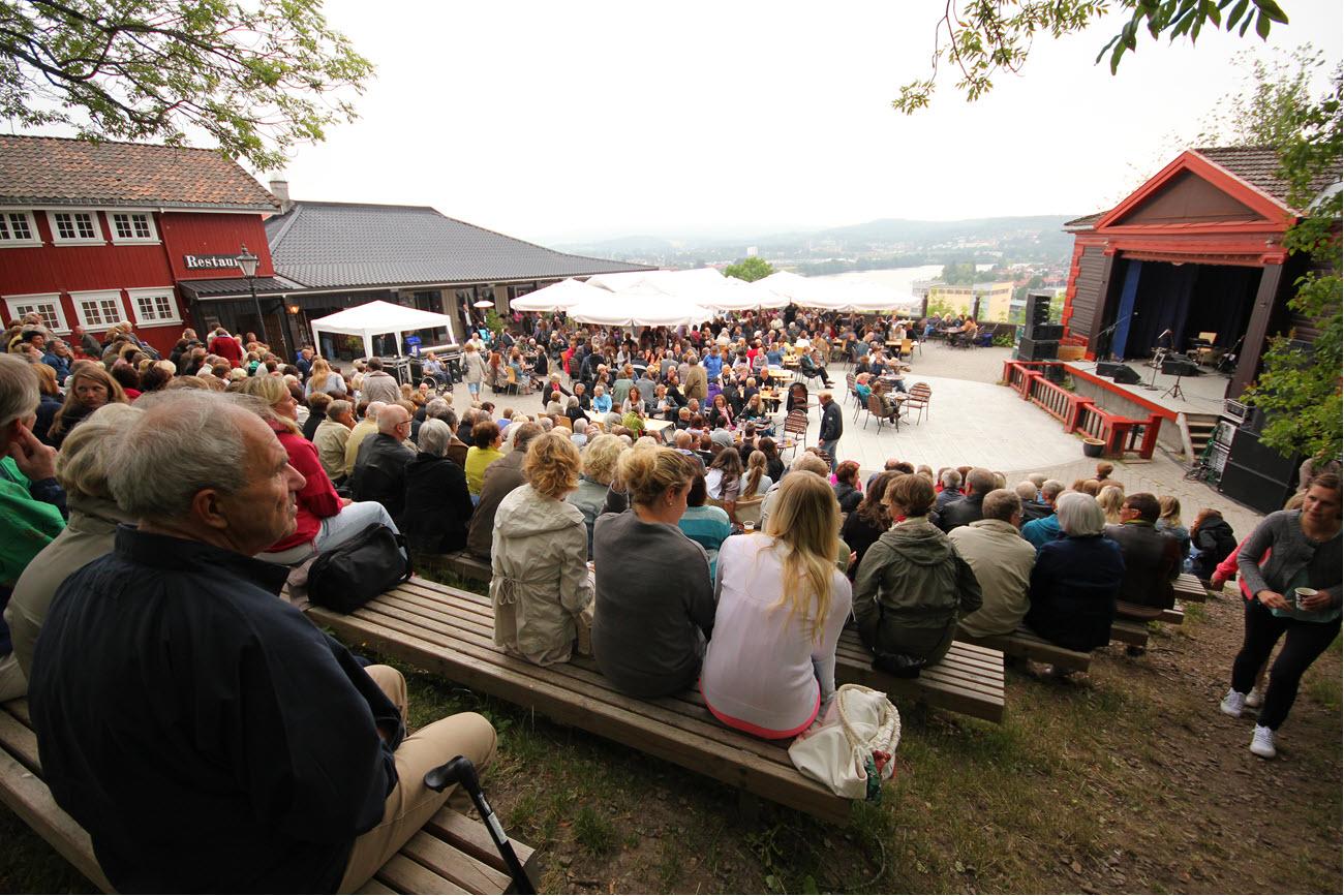 outdoor concert, Brekkeparken in Skien, South Norway.