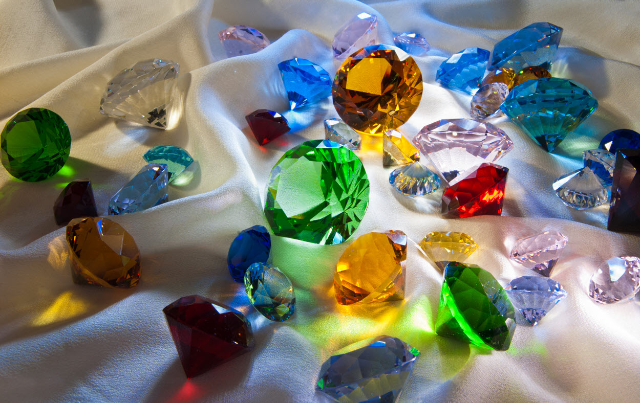 colored gems as gifts