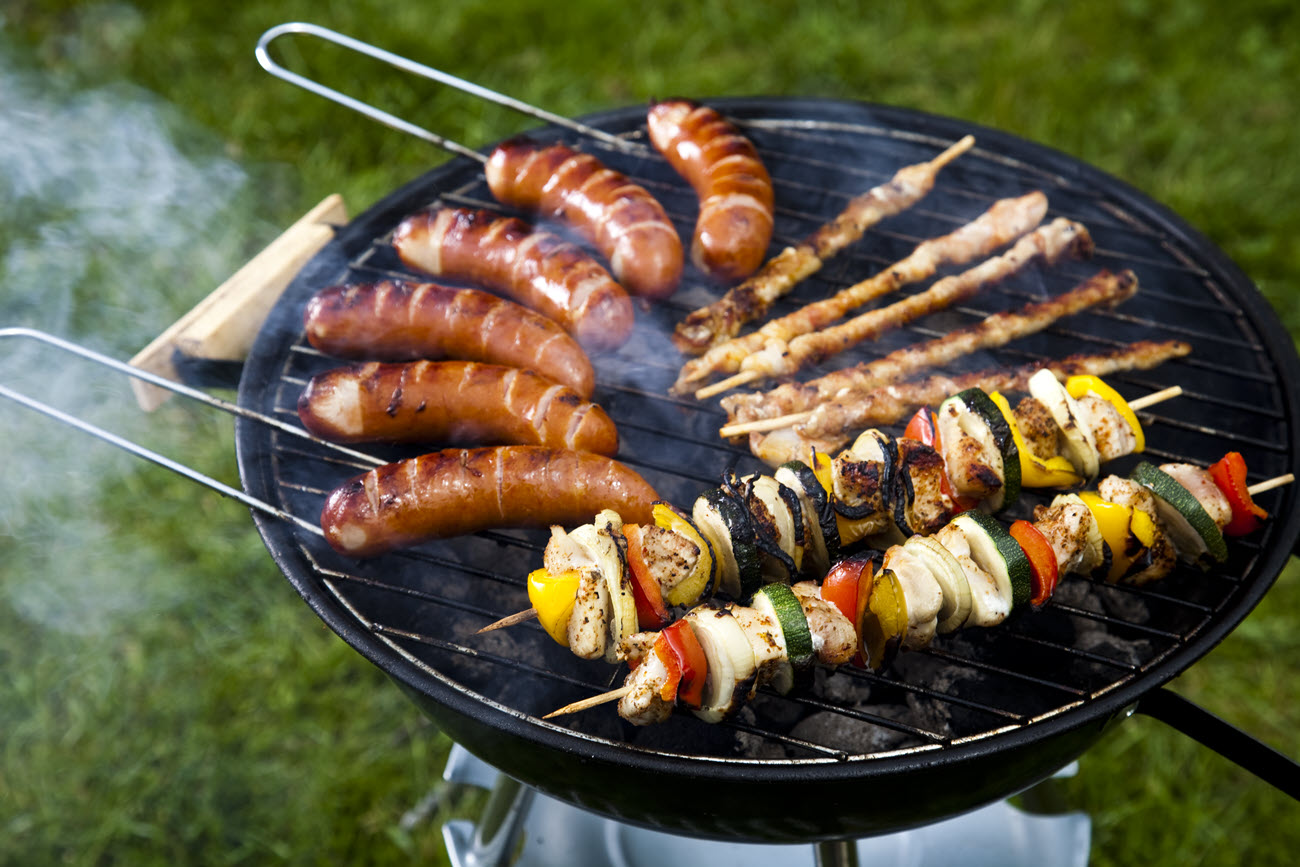 Barbecue on a hot grill