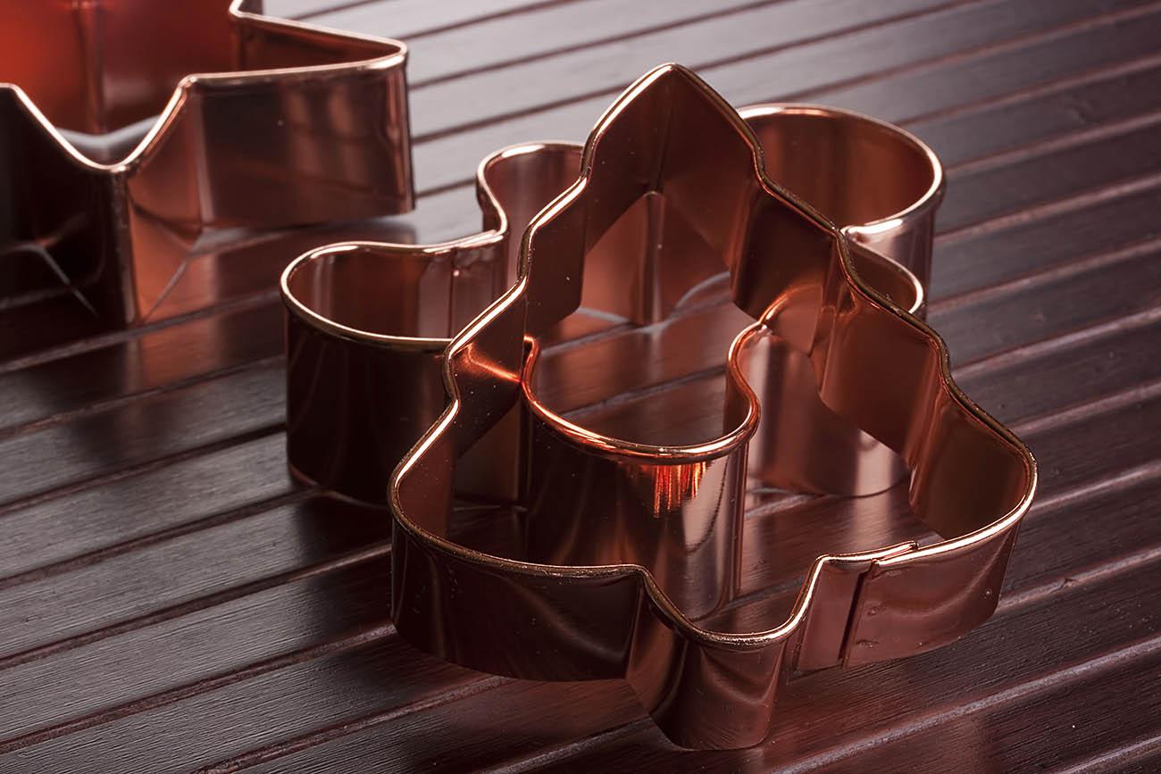 Copper cookie cutter