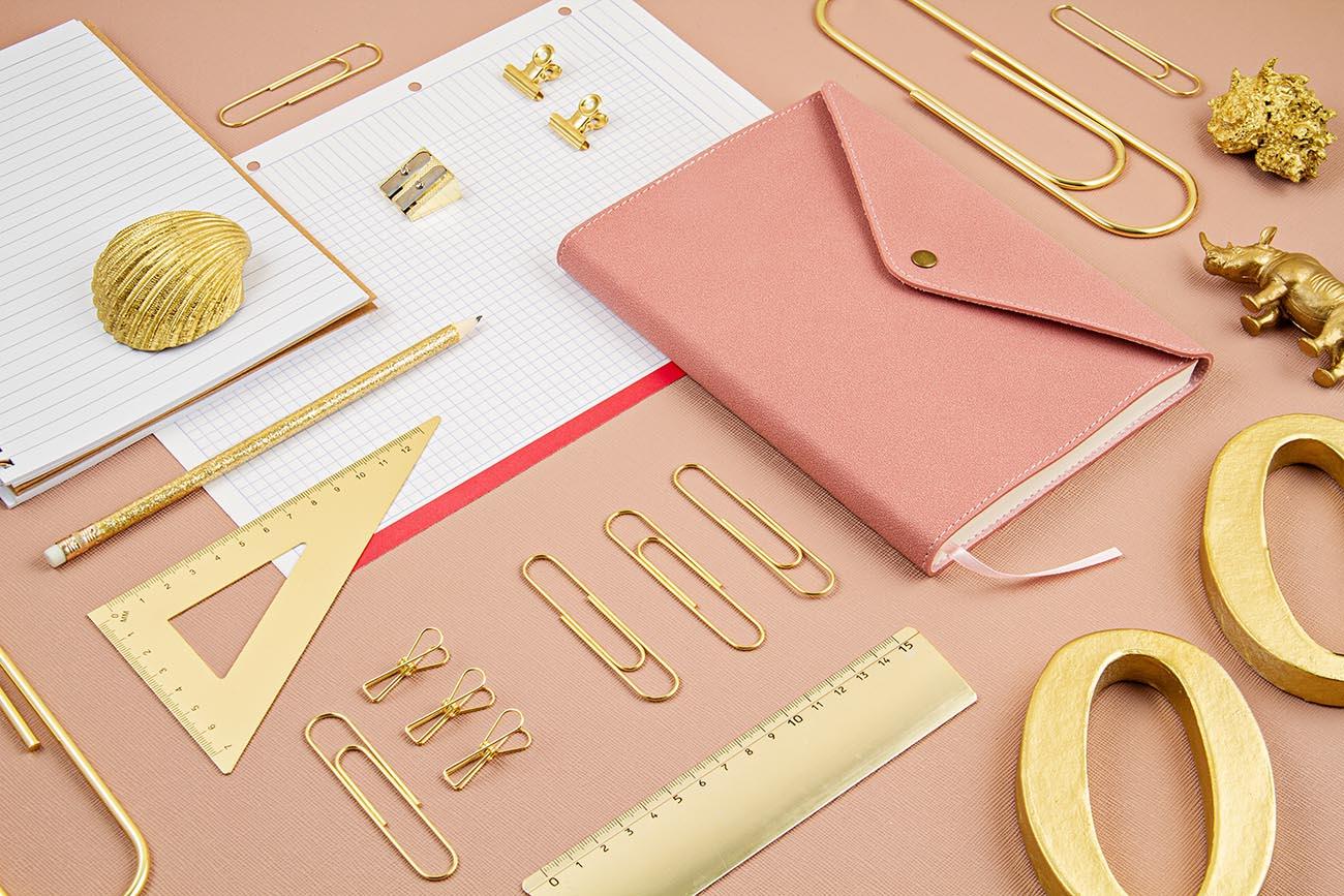 Golden brass office equipment