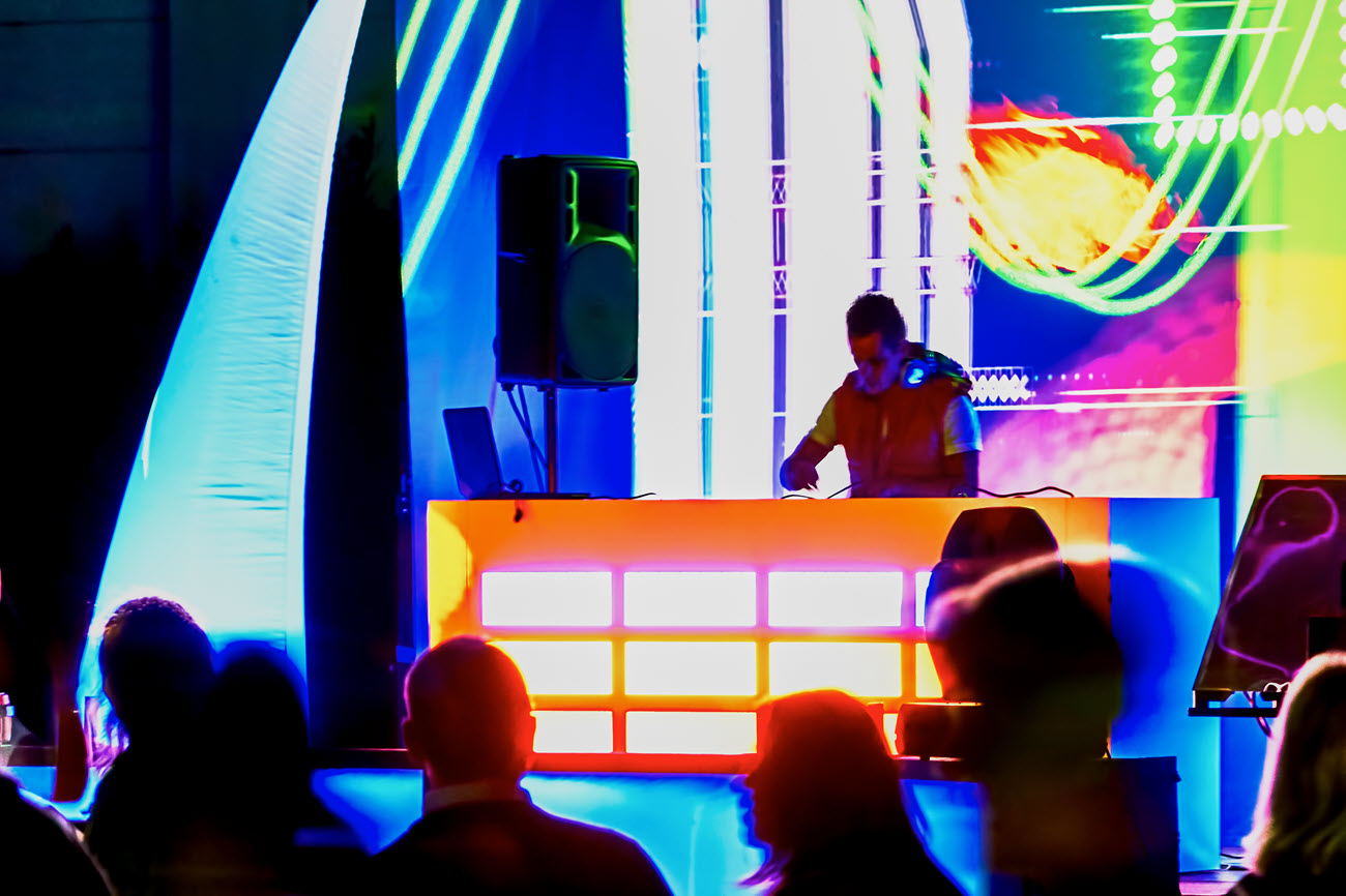 A DJ at a gathering