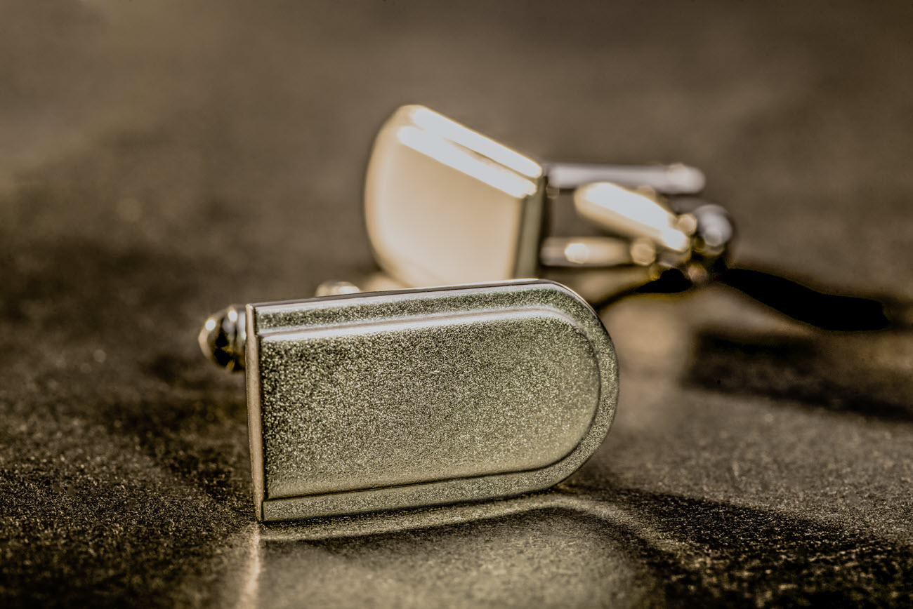 Shiny cufflinks