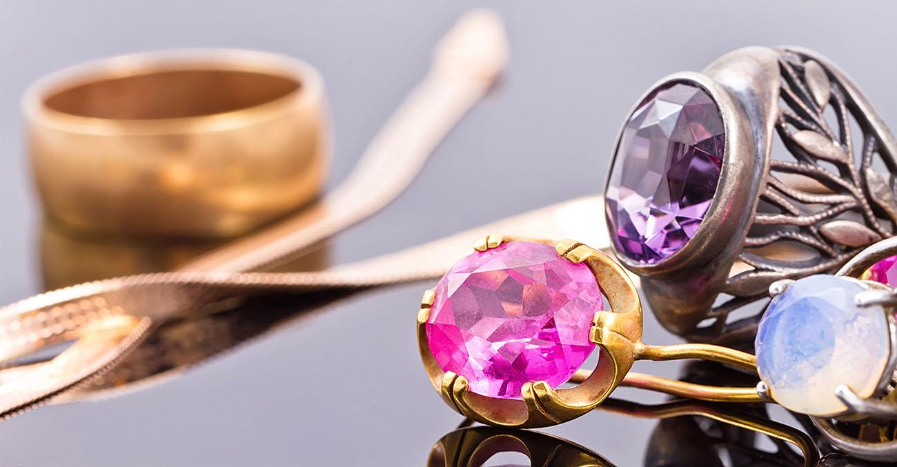 Various gemstone jewelries